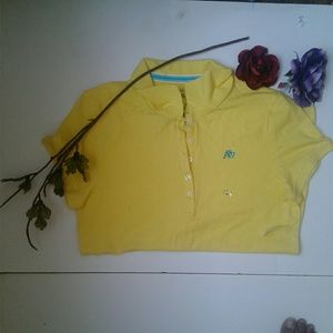 Aeropostale Yellow/Blue Short Sleeve Button UpPolo